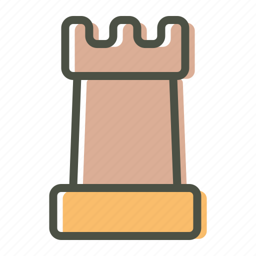 Chess, piece, rook icon - Download on Iconfinder