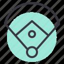 baseball, diamond, field, game, ring, sports