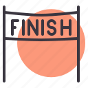 finish, line, race icon