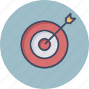 archery, arrow, board, bull, dart, eye icon