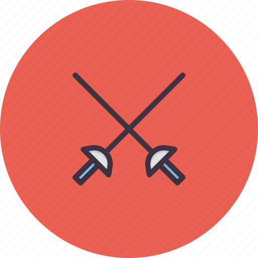 combat, cross, fence, fencing, fight, game, sword icon