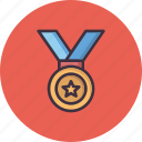 achievement, champion, honor, medal, prize, winner icon