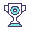 achieve, award, champion, championship, prize, trophy, winner icon
