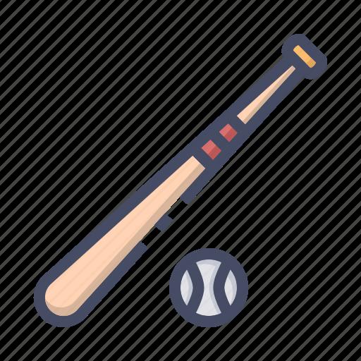 ball, baseball, bat, game, play icon