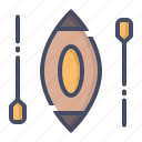 boat, canoe, fun, paddle, sail, sailing, water icon