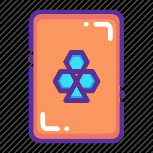 card, casino, clover, gamble, gambling, luck, playing icon