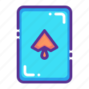 card, casino, gamble, gambling, luck, playing, spade icon