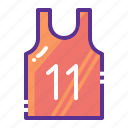 basketball, clothing, marathon, sports, vest, wear icon