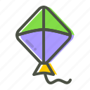 fly, flying, kite icon
