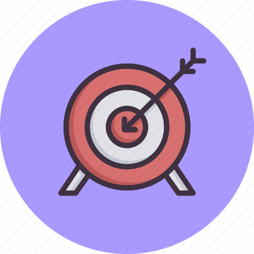 Archery, arrow, bullseye, game, olympics, target icon - Download on Iconfinder