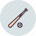 ball, baseball, bat, game, play icon