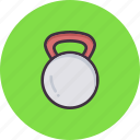 exercise, fitness, kettlebell, lift, weight, workout icon