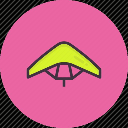 diving, glider, gliding, paraglider, paragliding, sky icon