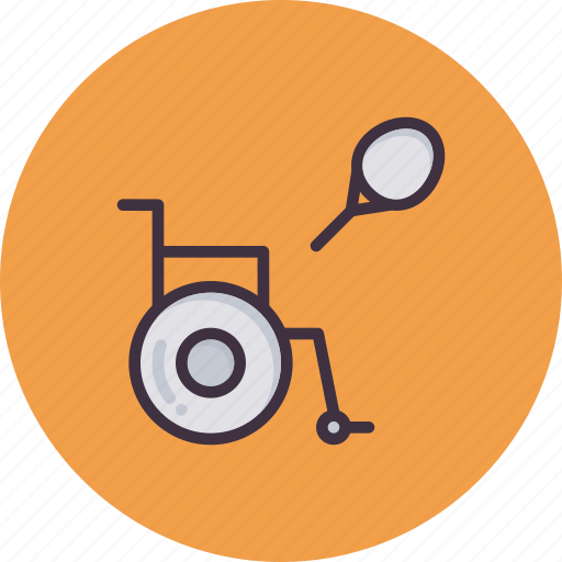 Challenged, game, paralympic, paralympics, physically, sports, tennis icon - Download on Iconfinder