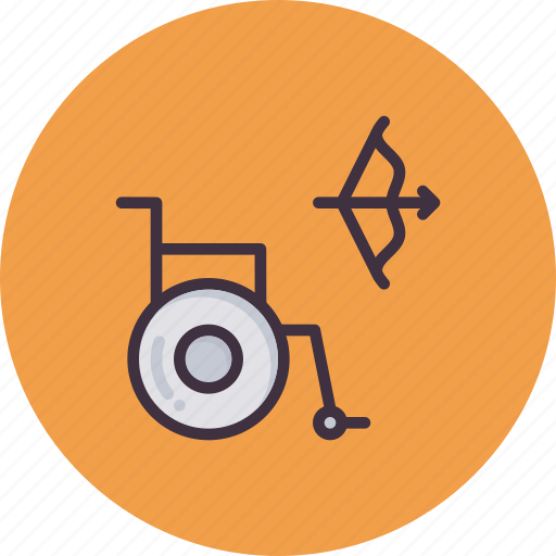 Archery, bow, disabled, games, handicapped, paralympic, paralympics icon - Download on Iconfinder