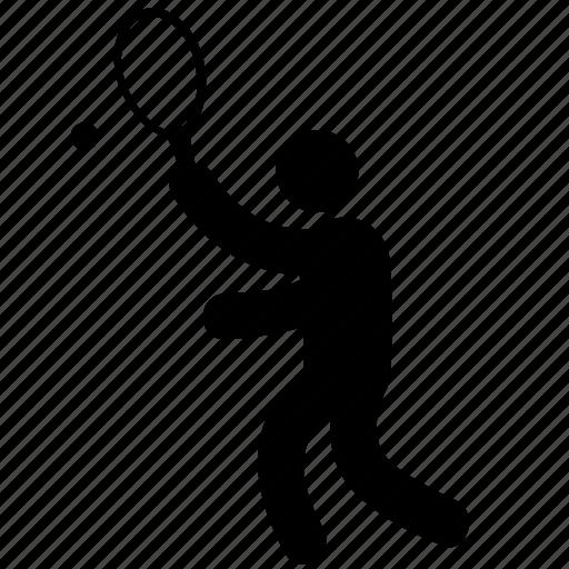ball, playing, racket, sport, sports, tennis, tennis-player icon
