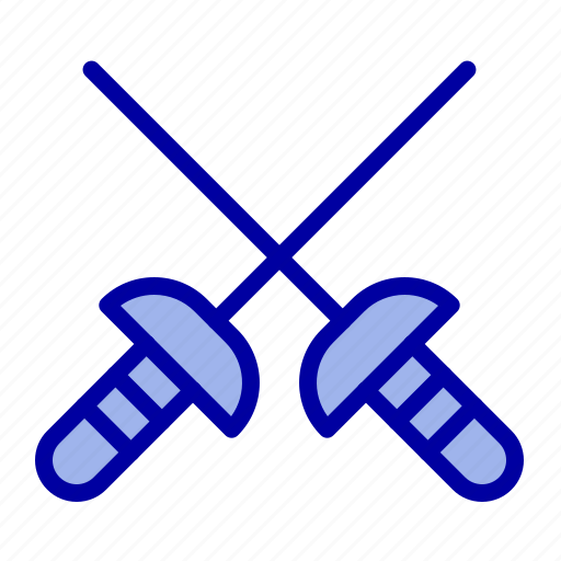 Fencing, sabre, sport icon - Download on Iconfinder