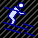 activity, ski, skiing, sportsman icon
