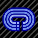 running, stadium, surface, track icon