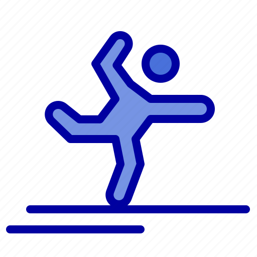 athlete, gymnastics, performing, stretching icon