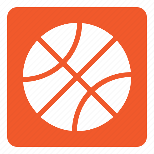 ball, basket, basket ball, set, sports, square icon