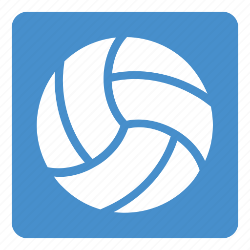 ball, set, sports, square, volley, volley ball icon