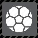 ball, football, futsal, set, soccer, sports, square icon