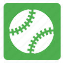 ball, baseball, set, softball, sports, square icon