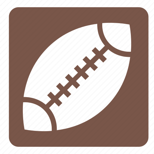 american football, ball, rugby, set, sports, square icon