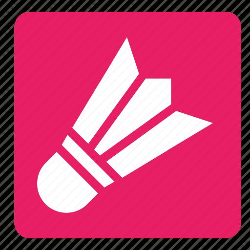 badminton, ball, set, sports, square icon