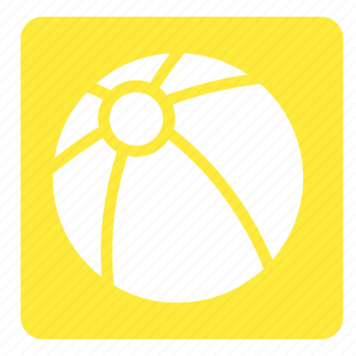 ball, set, sports, square, volley beach icon