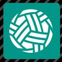 ball, sepak takraw, set, sports, square icon