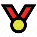 gold, medal icon