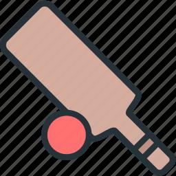 ball, bat, cricket, sports icon