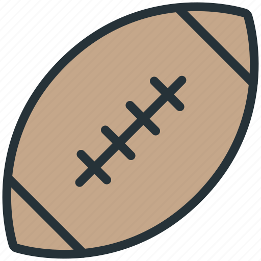 ball, equipment, rugby, sports icon