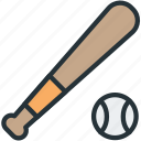 baseball, bat, sports icon