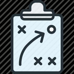 board, map, plan, sports, strategy icon