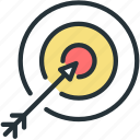 aim, archery, sports, target icon