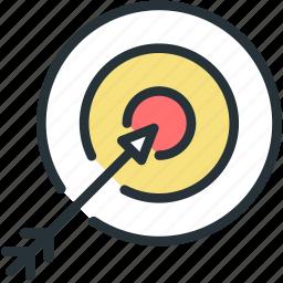 aim, archery, sports, target icon
