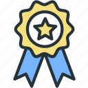 achievement, medal, sports, star, winner icon
