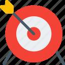 aim, archery, board, bulls eye, center, sport, win icon