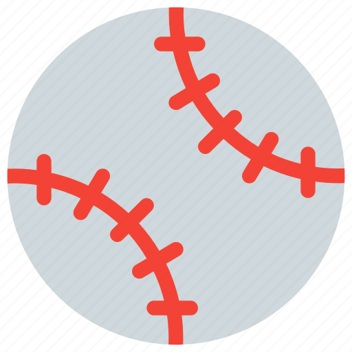 baseball, game, play, roll, softball, stitched, stitches icon