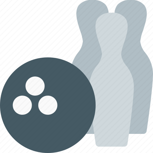 ball, bowling, hit, holes, objects, pin, strike icon