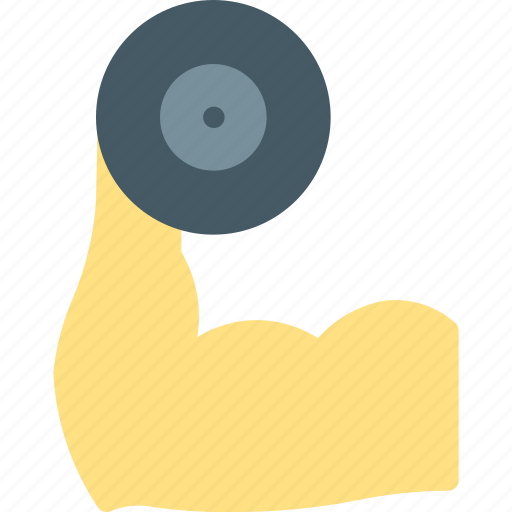biceps, bodybuilding, dumbbell, fitness, gym, healthy, lift icon