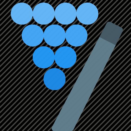 ball, billiard, game, pool, stick, strike, table icon