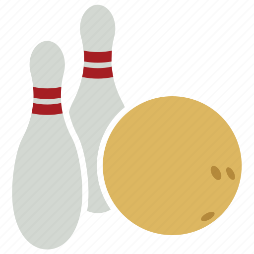 bowling, bowling ball, bowling ball and pins, bowling pins, pins, sports icon