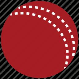 ball, cricket, cricket ball, red cricket ball, sports icon