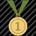 champion, first, medal, pride, winner