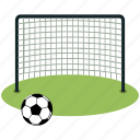 ball, football, goal, net, soccer, sports icon