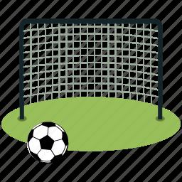 ball, football, goal, net, soccer, sports icon
